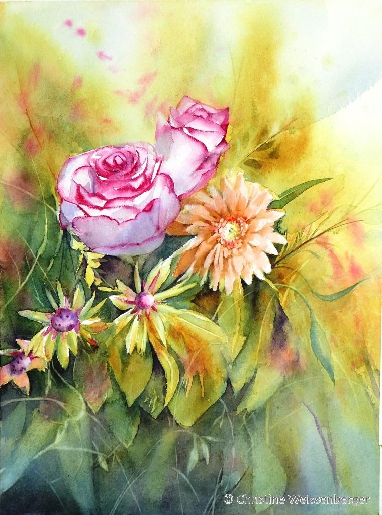 Bouquet de fleurs jaunes