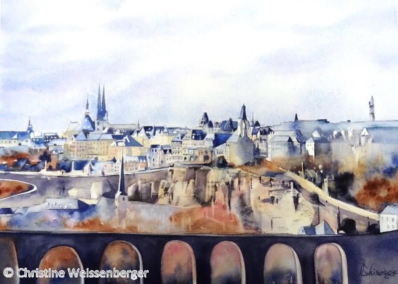 Vue sur la ville de Luxembourg