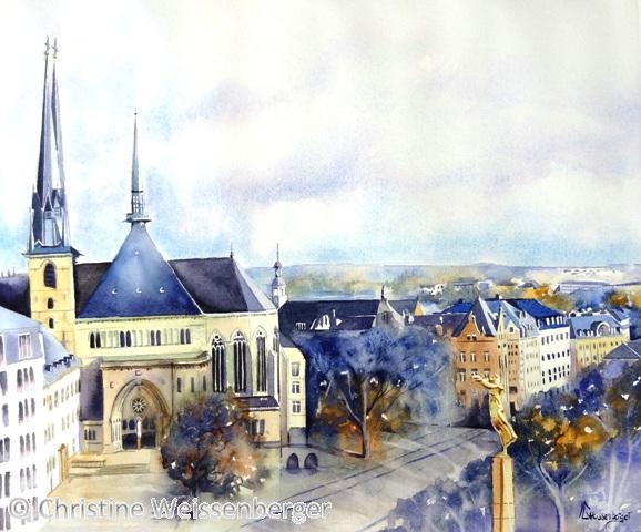 Cathédrale Notre-Dame et Gëlle Fra