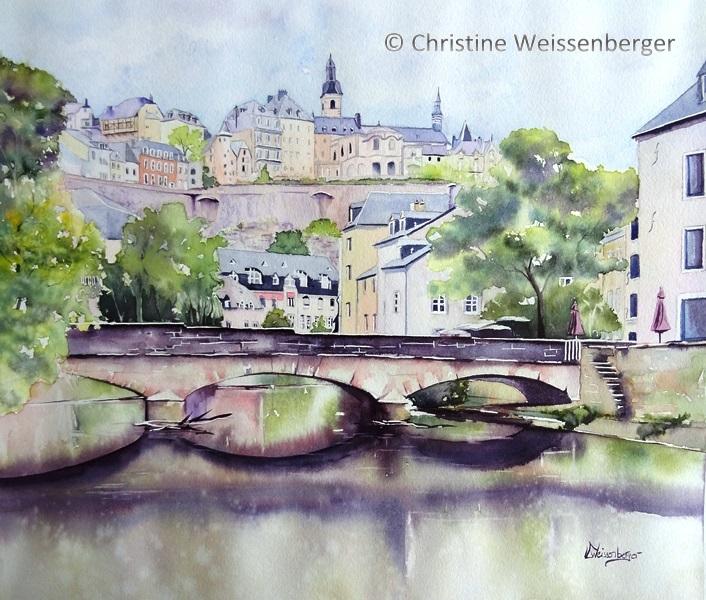 Pont rue Münster Grund Luxembourg