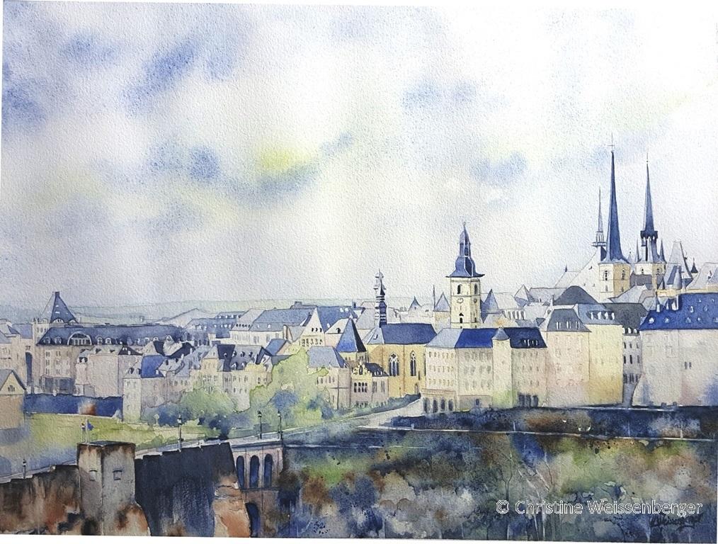 Eglise St Michel et montée Clausen