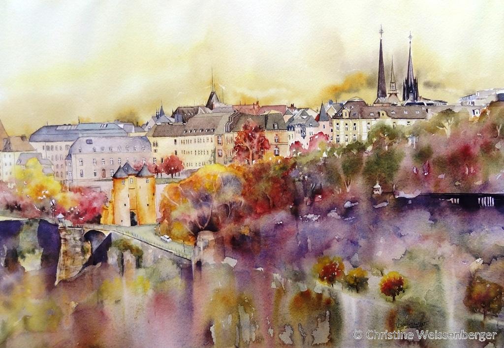Vue sur la ville Luxembourg