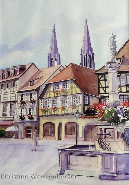 Obernai Place du marché