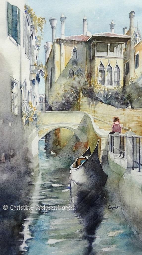 Venise - Gondolier lisant