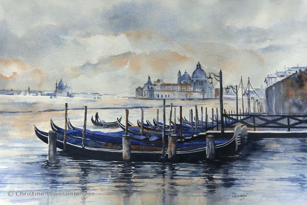 Venise - Gondoles au crépuscule