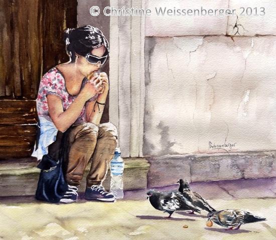 La fille aux pigeons